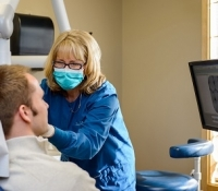 Dental cleaning and exam at Avon Dental